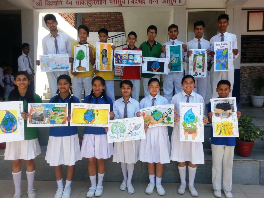 To Create Awareness About Environment A Poster Making Competition Was Held In The School Which Organized By Himachal Dastak On Theme Save